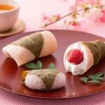 桜餅や草もち、苺ちゃん